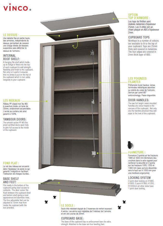 armoire rangement vinco